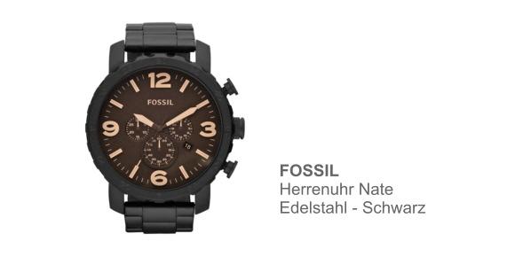 Herrenuhr fossil nate schwarz